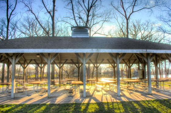 beckman-mill-wisconsin-sunlight-shining-through-the-picnic-pavilion